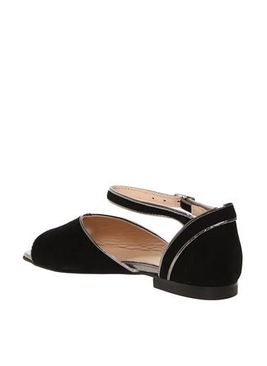 Beymen Studio Beymen Studio Kadın Süet Siyah - Antrasit Sandalet Siyah